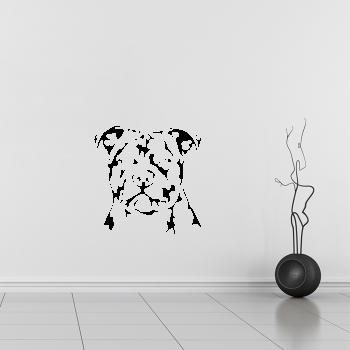 Samolepka na zeď - Staffordshire bull terrier