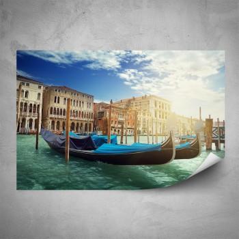 Plakát - Benátské gondoly