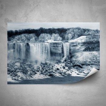 Plakát - Zimní vodopád