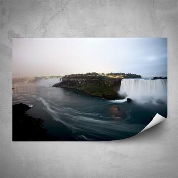 Plakát - Řeka s vodopádem