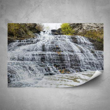 Plakát - Skalní vodopád