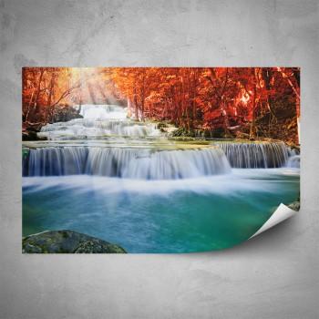 Plakát - Vodopád při slunečním svitu