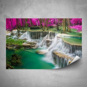 Plakát - Fialový vodopád