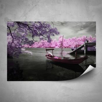 Plakát - Růžová lodička