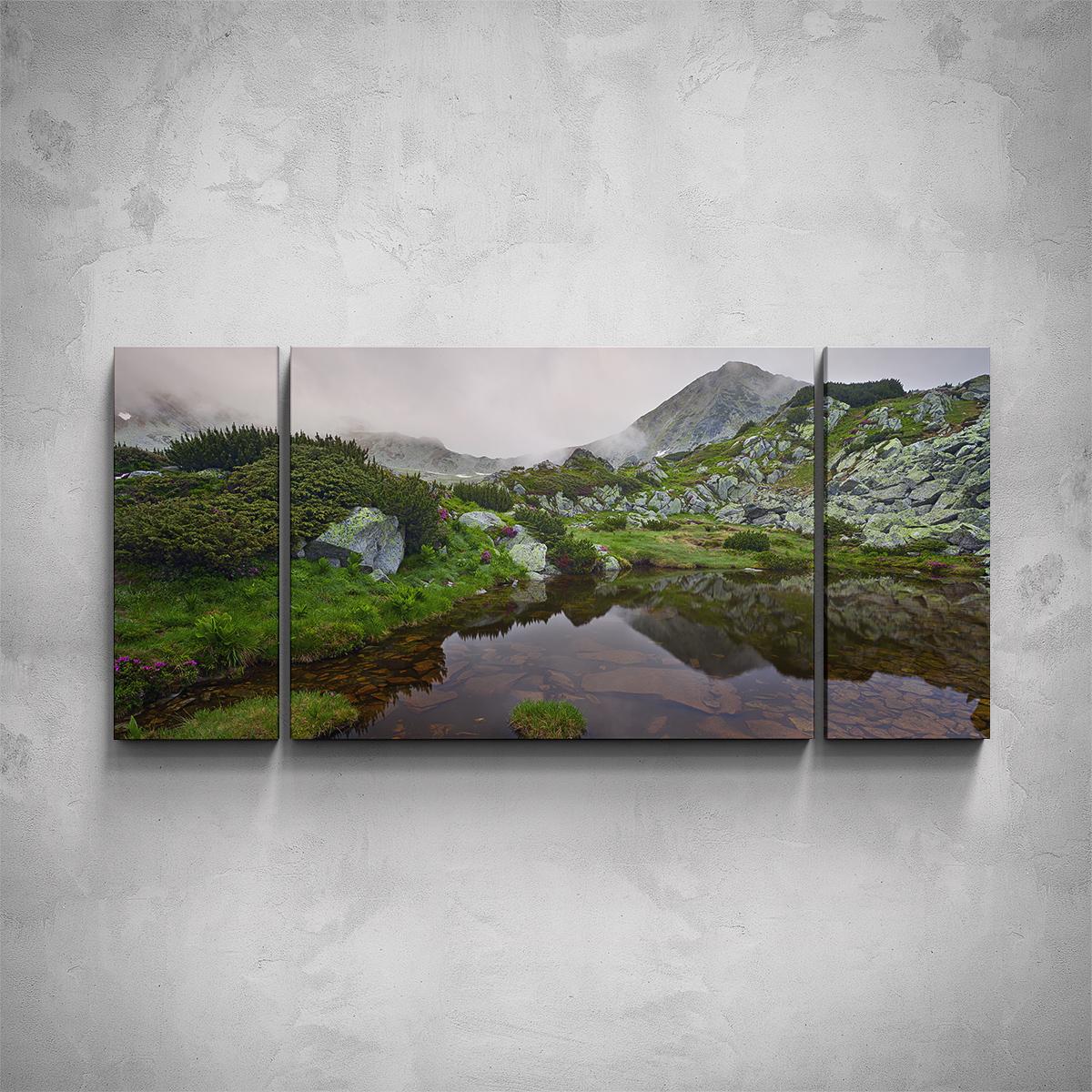 3-dílný obraz - Hory v mlze - PopyDesign