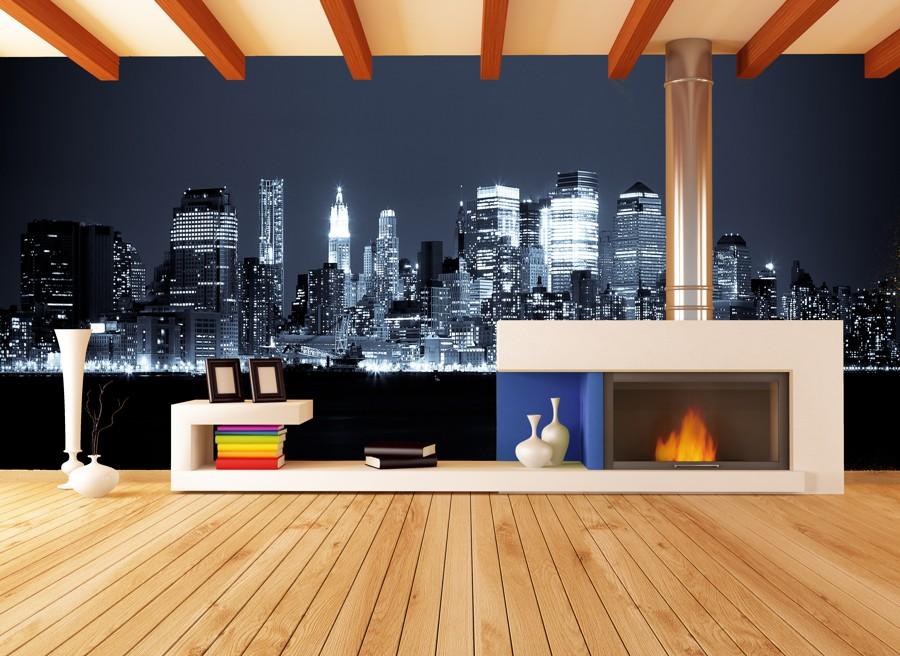 Tapeta - Pohled na New York - 120x40 cm - PopyDesign