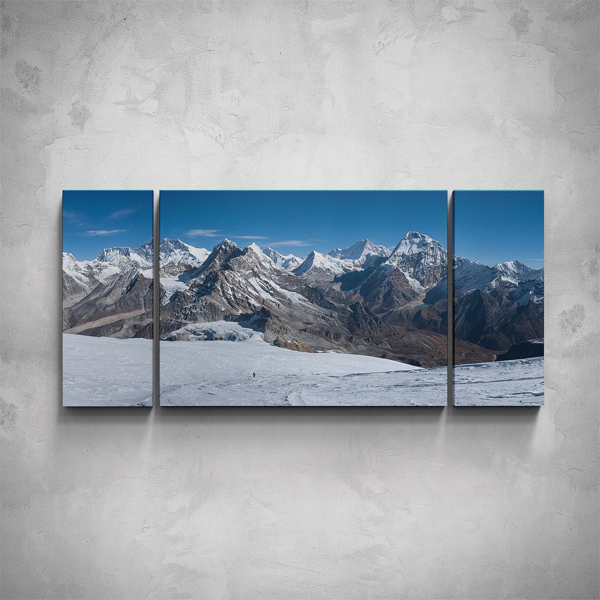 3-dílný obraz - Hory v zimě - PopyDesign