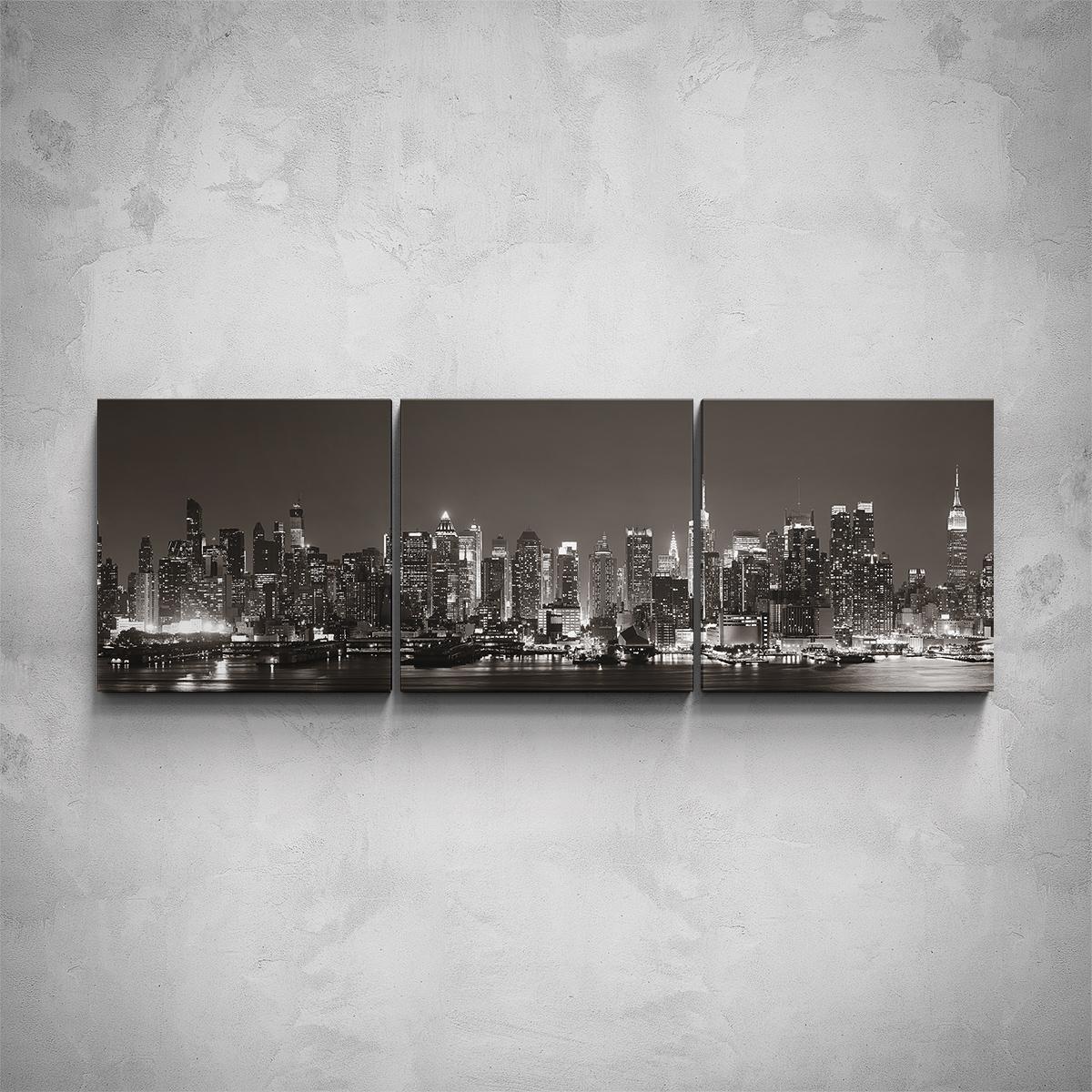 3-dílný obraz - Pohled na New York - PopyDesign