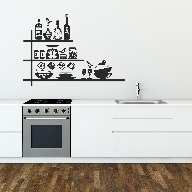 Samolepka na zeď - Kuchyňská polička - 95x67 cm - PopyDesign