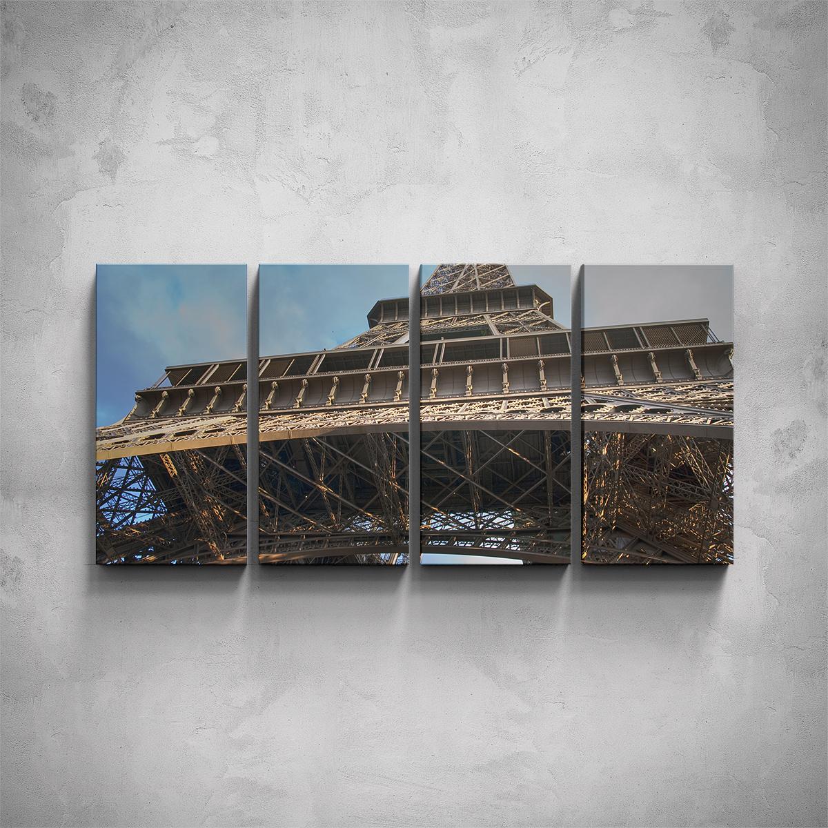 4-dílný obraz - Eiffelova věž - detail - PopyDesign