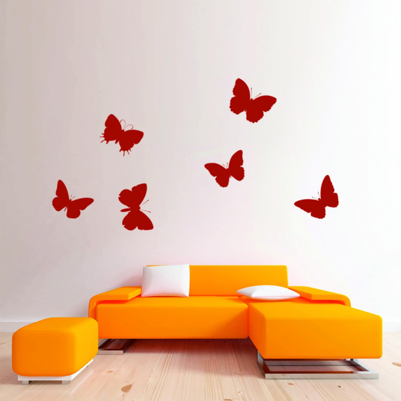 Samolepka na zeď - Motýlci Set - PopyDesign