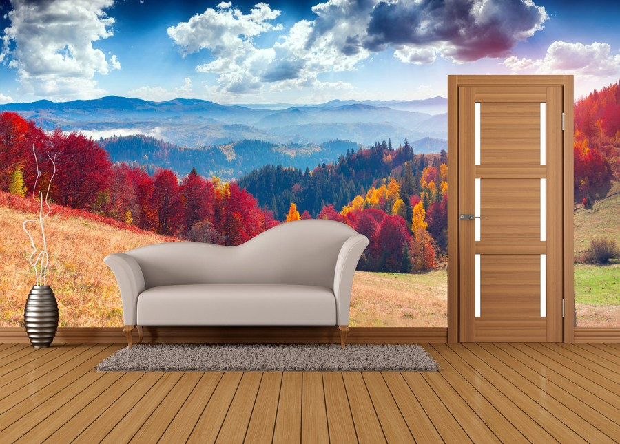 Tapeta - Barevná krajina - 120x70 cm - PopyDesign
