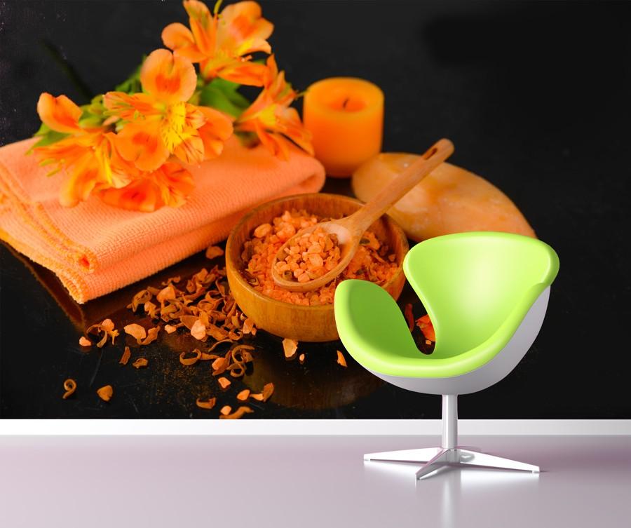 Tapeta - Oranžové zátiší - 120x80 cm - PopyDesign