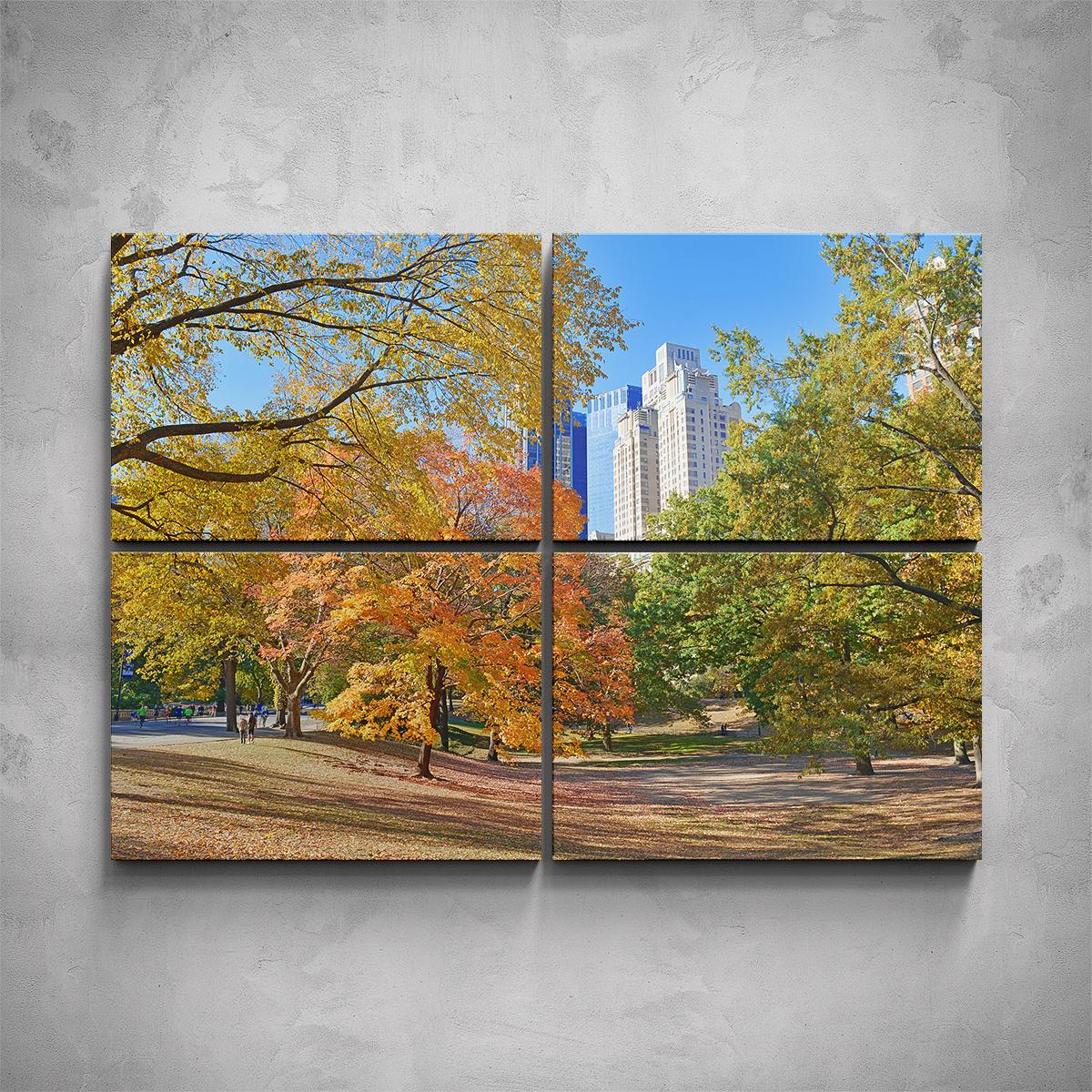 4-dílný obraz - Podzimní New York - PopyDesign