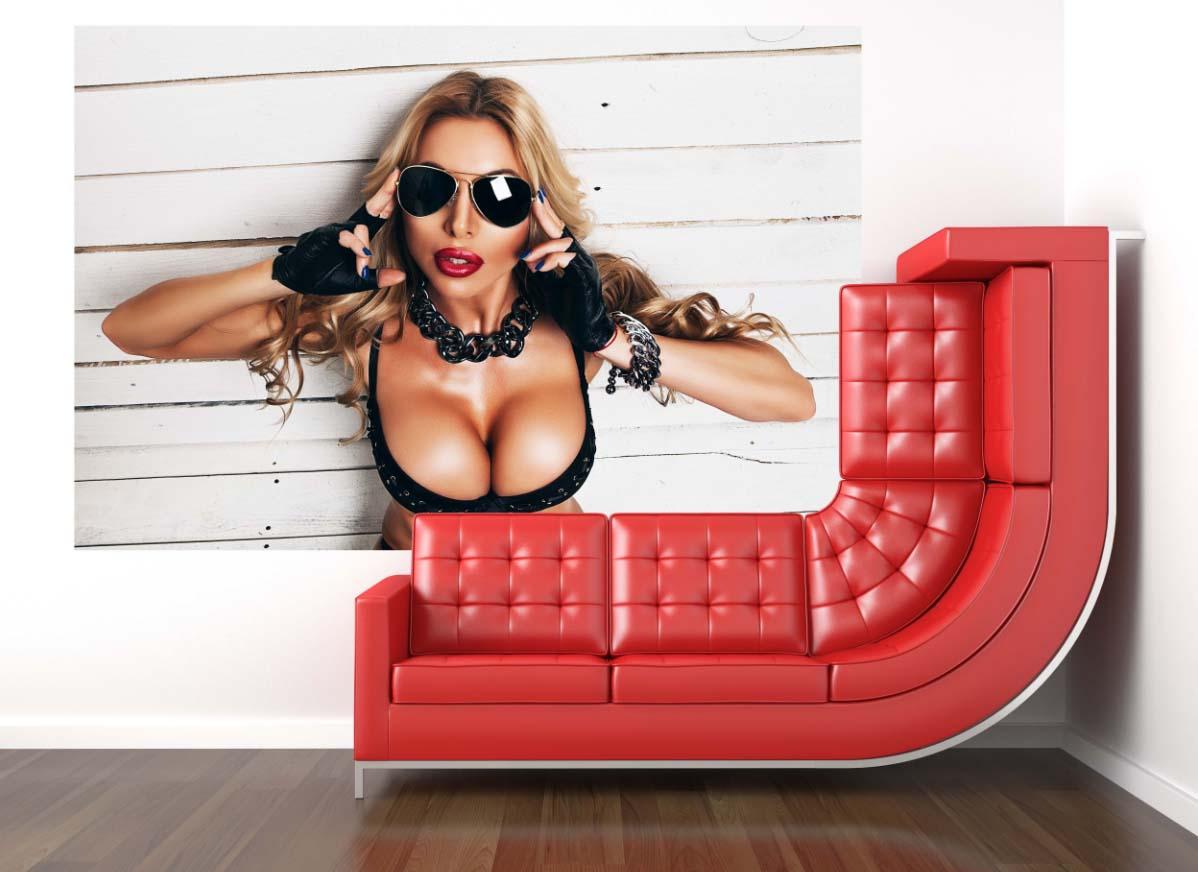 Tapeta - Blondýnka - 120x80 cm - PopyDesign