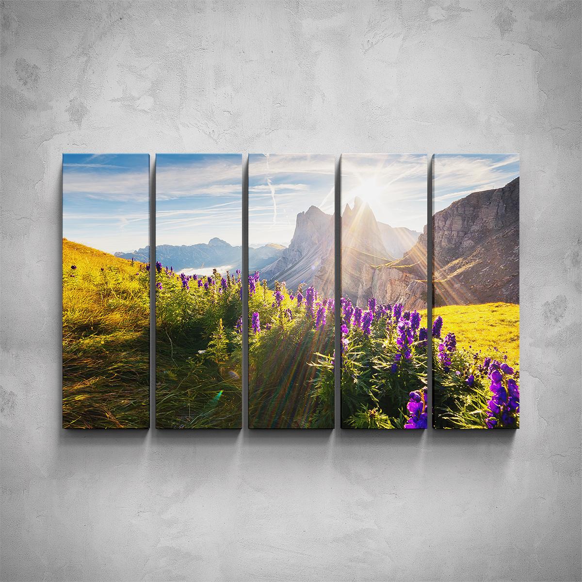 5-dílný obraz - Horská louka - PopyDesign
