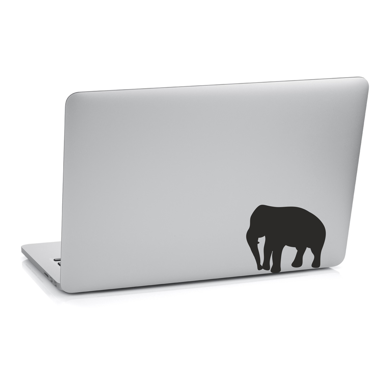 Samolepka na notebook - Velký slon - 18x20 cm - PopyDesign