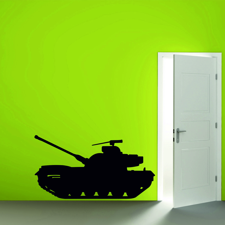 Samolepka na zeď - Tank 1 - 120x63 cm - PopyDesign