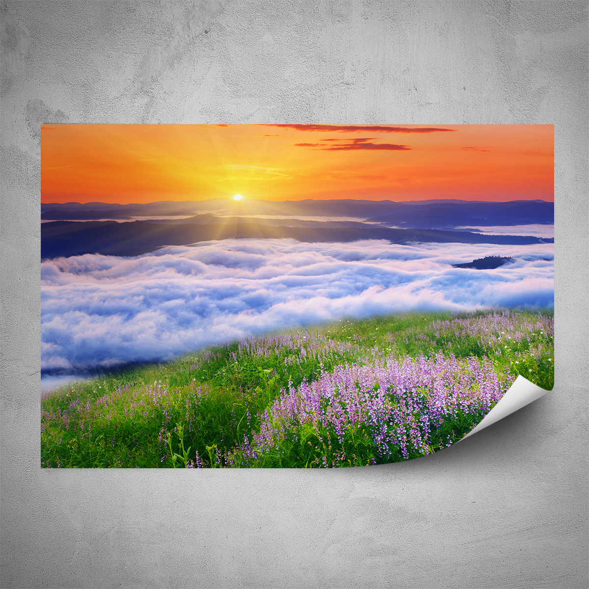 Plakát - Horská louka - 60x40 cm - PopyDesign
