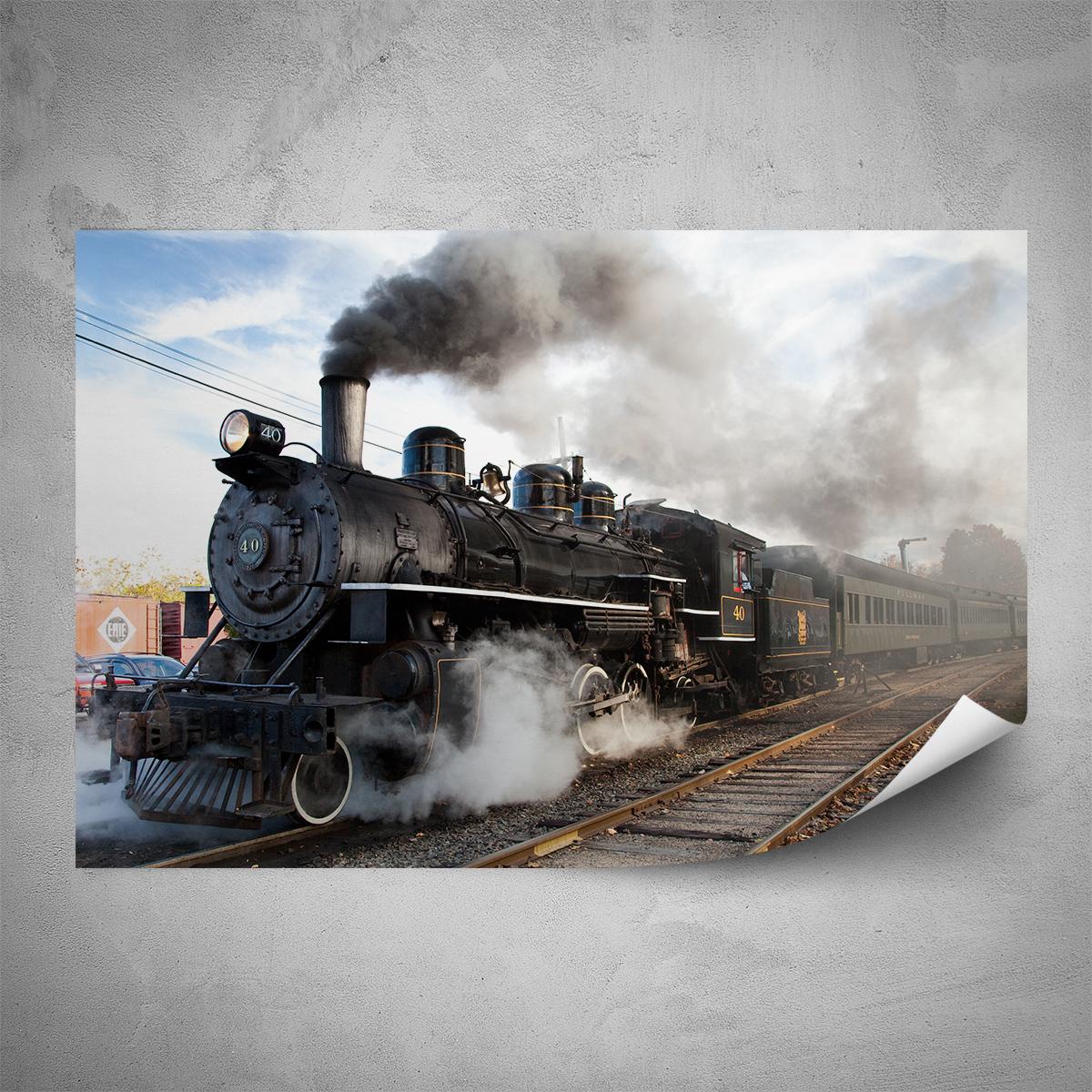 Plakát - Parní lokomotiva - 60x40 cm - PopyDesign