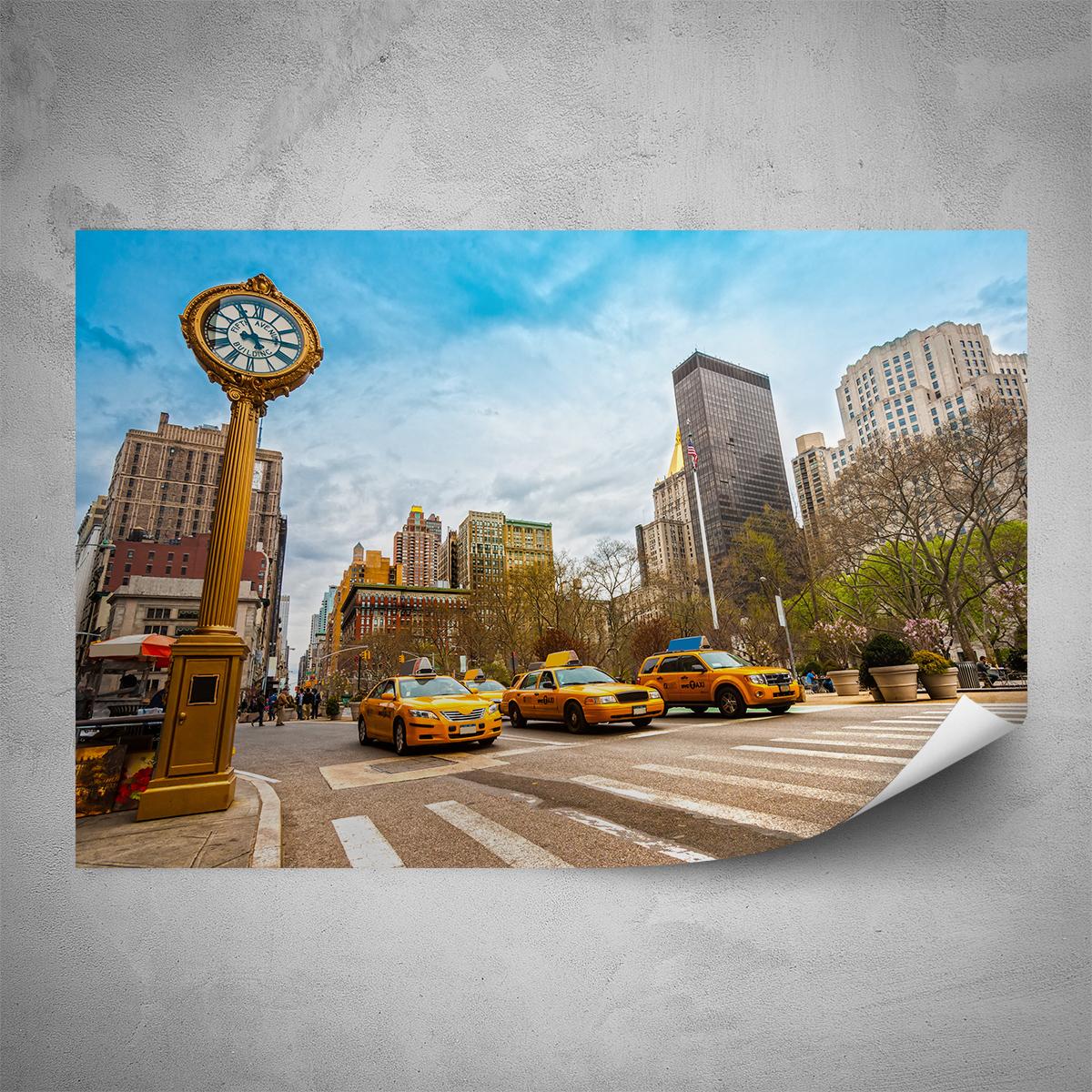 Plakát - New York Taxi - 60x40 cm - PopyDesign