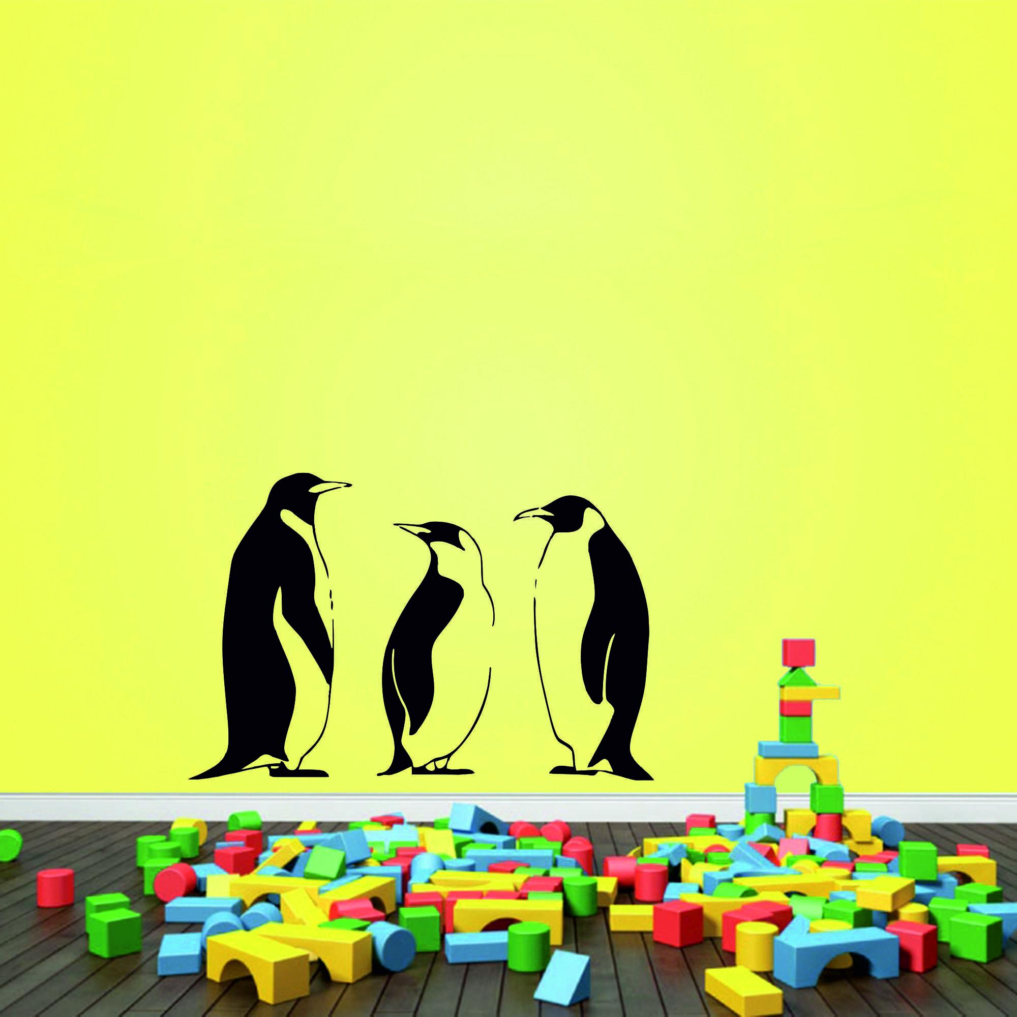 Samolepka na zeď - Tučňáci set 3 ks - PopyDesign