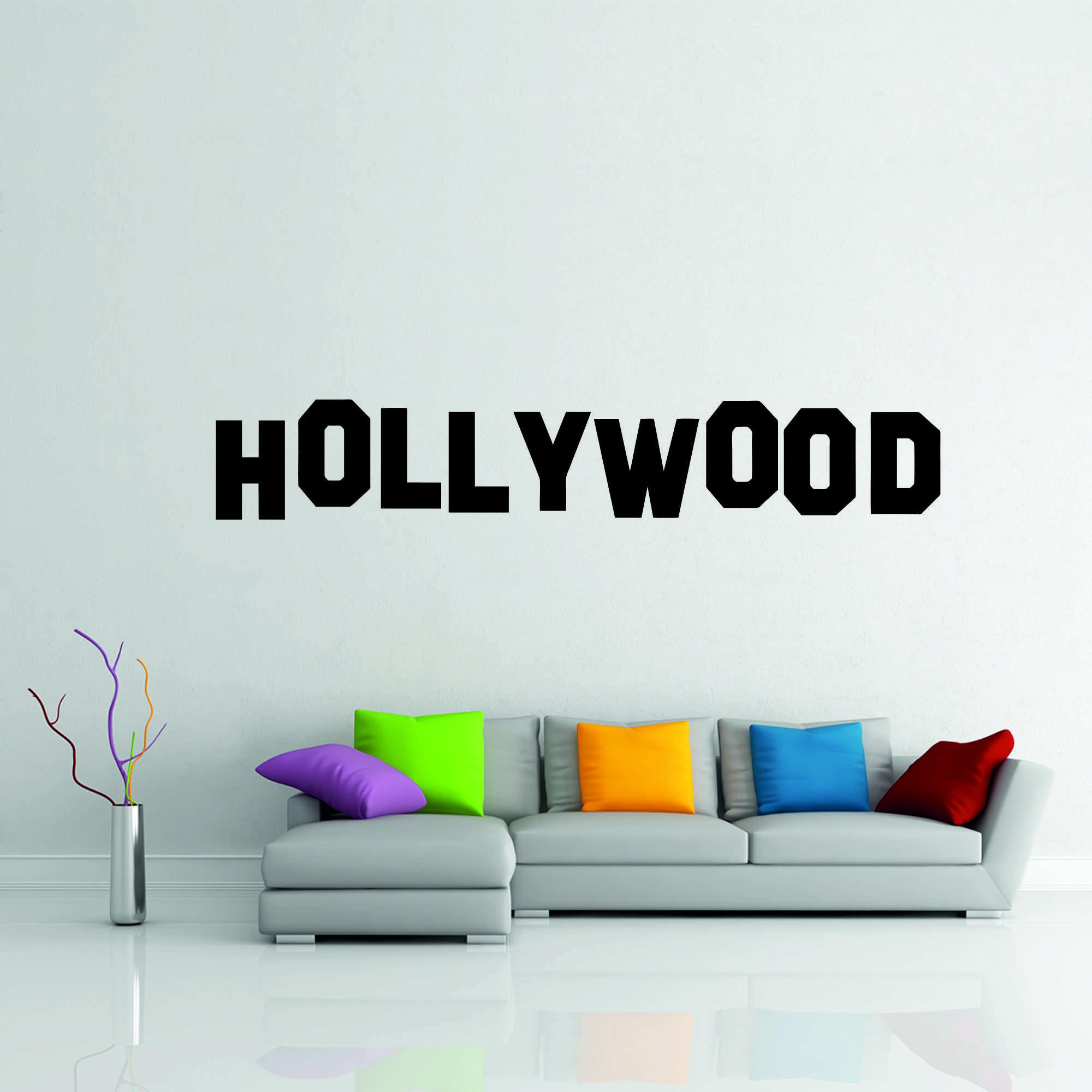 Samolepka na zeď - Hollywood nápis - 60x10cm - PopyDesign