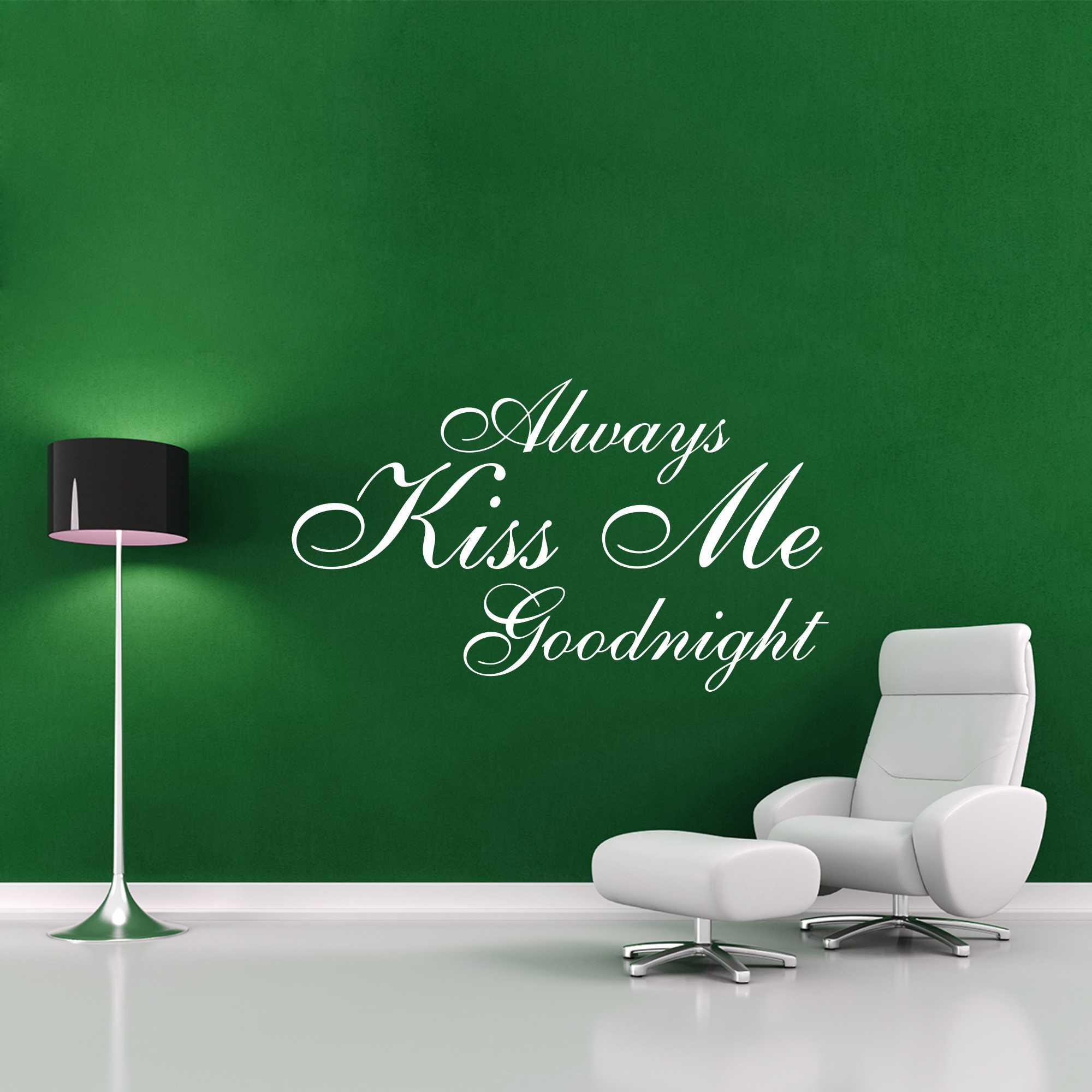 Samolepka na zeď - Kiss me nápis - 60x35 cm - PopyDesign