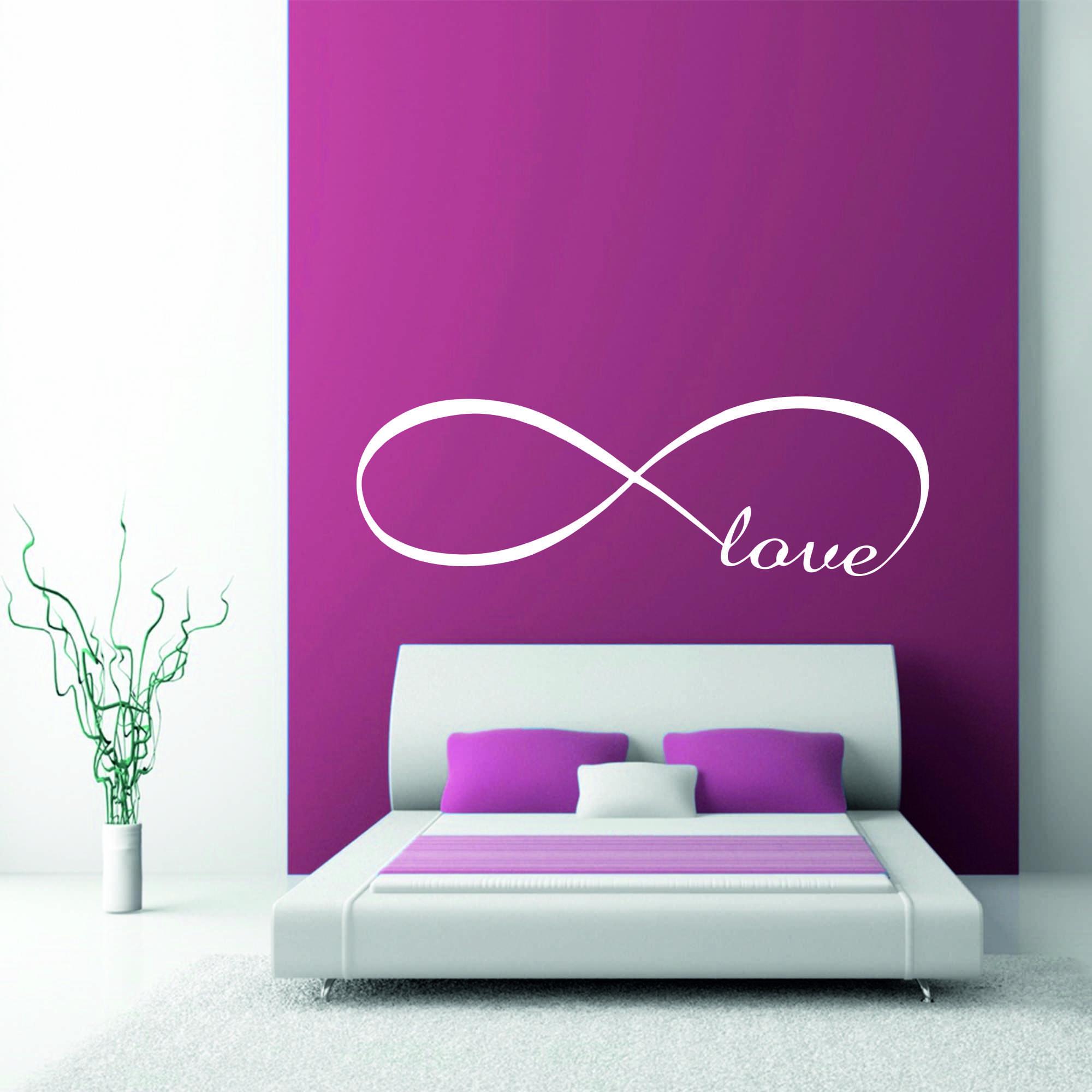 Samolepka na zeď - Love nápis - 60x19 cm - PopyDesign