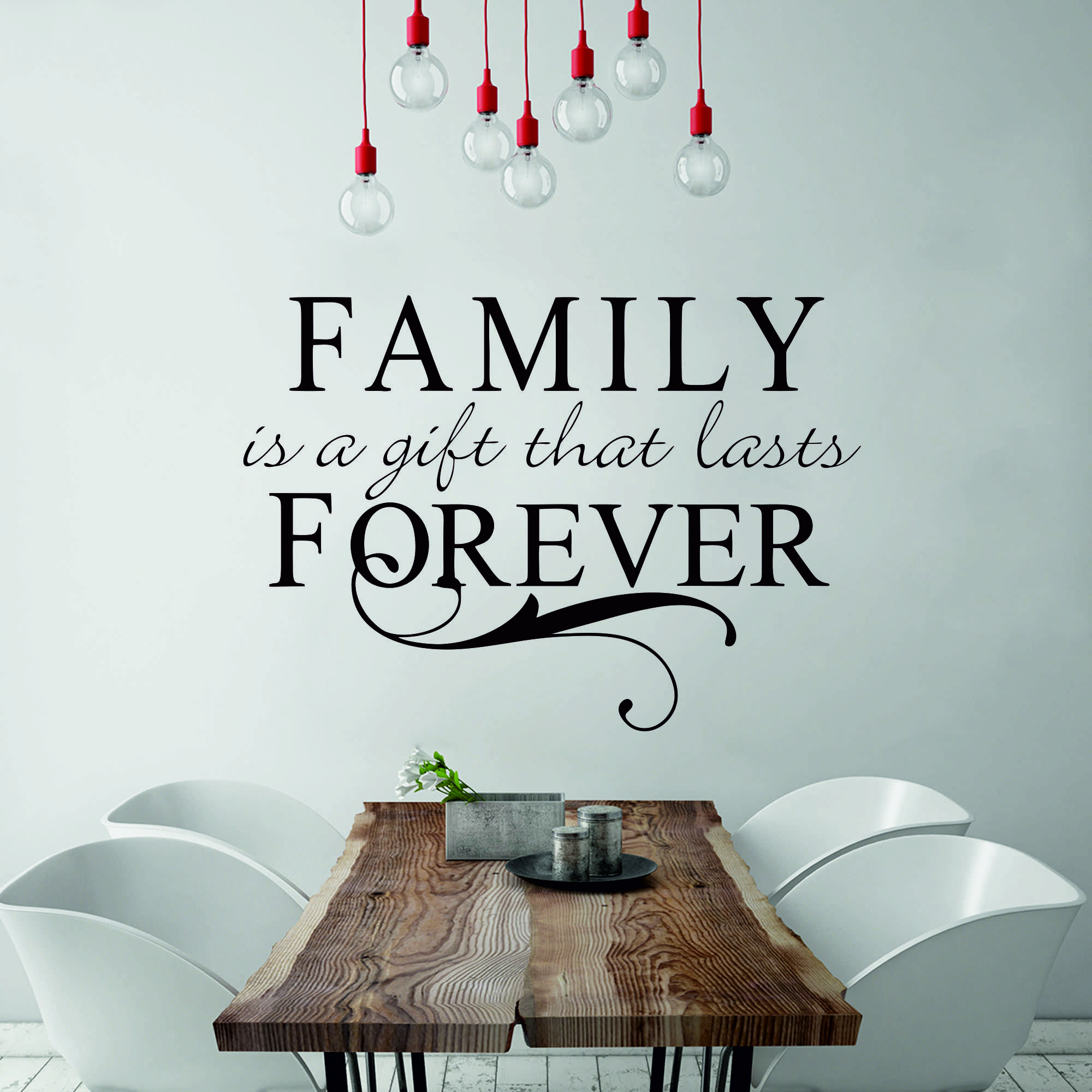Samolepka na zeď - Family forever - 60x42 cm - PopyDesign