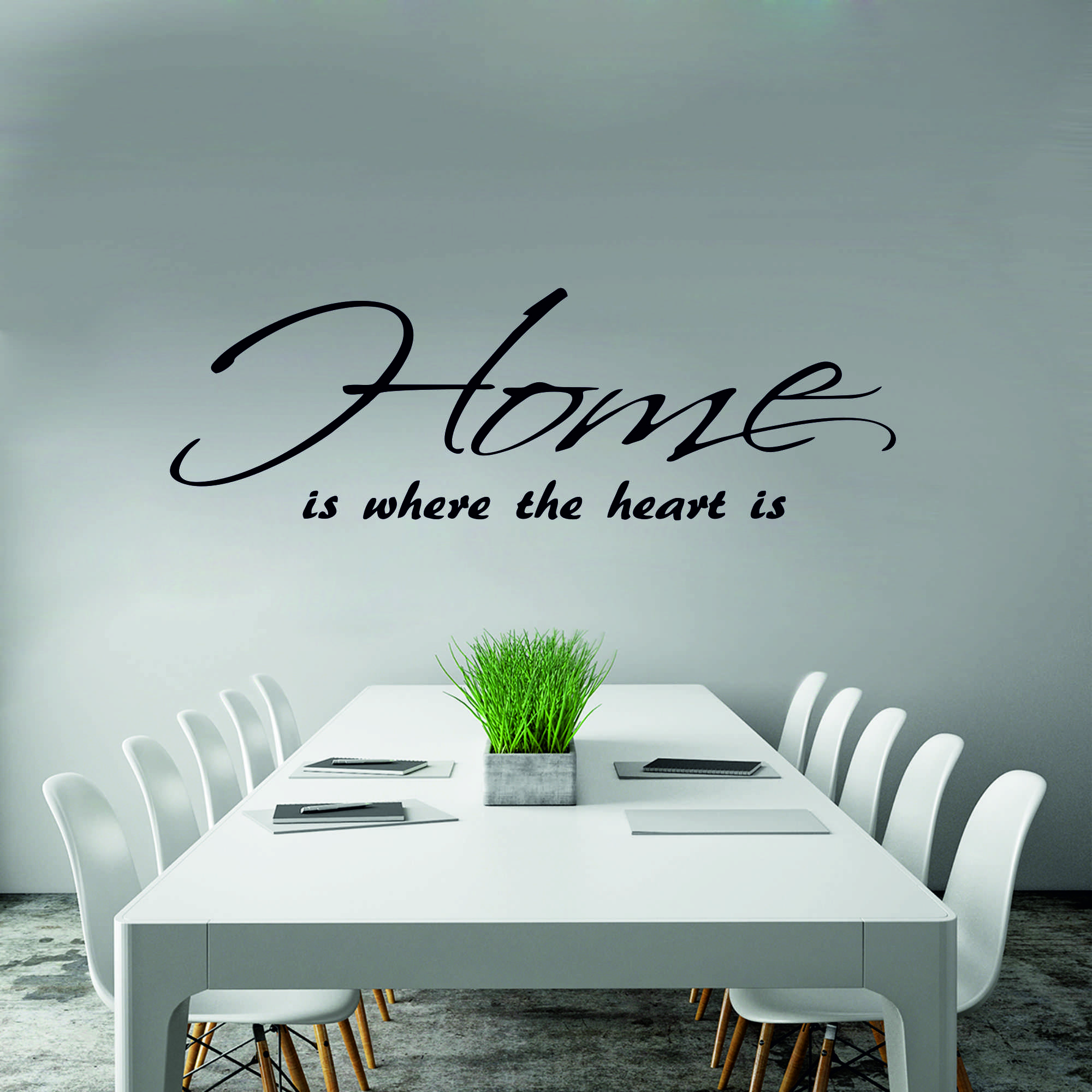 Samolepka na zeď - Home nápis - 120x38 cm - PopyDesign