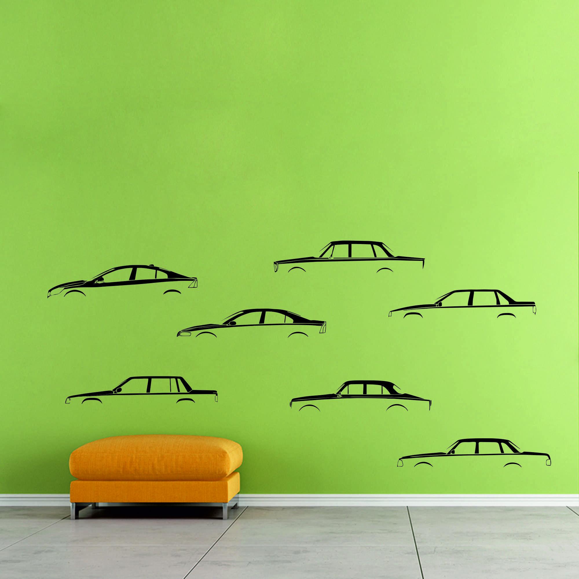 Samolepka na zeď - Vývoj aut set - PopyDesign
