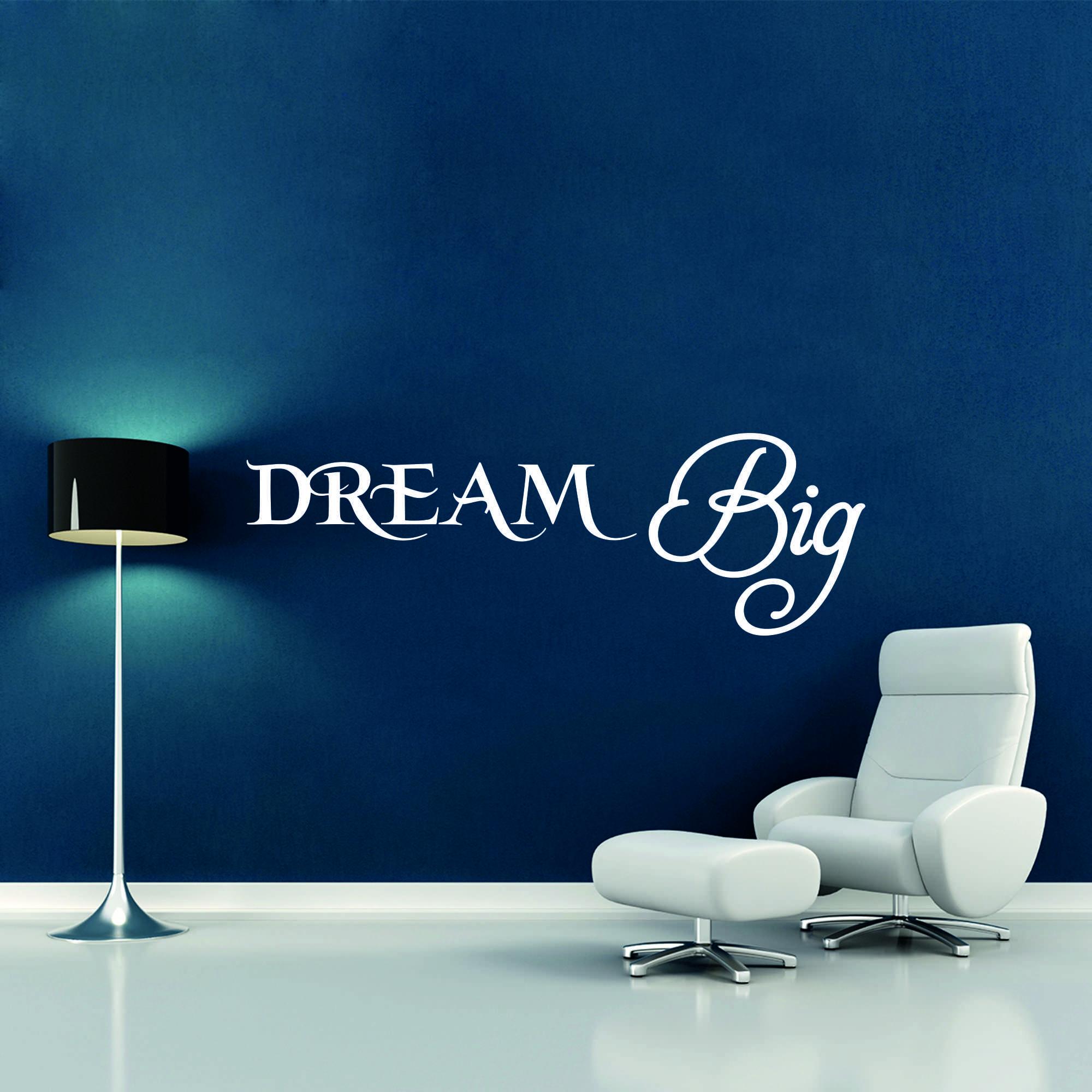 Samolepka na zeď - Dream Big nápis - 60x20 cm - PopyDesign