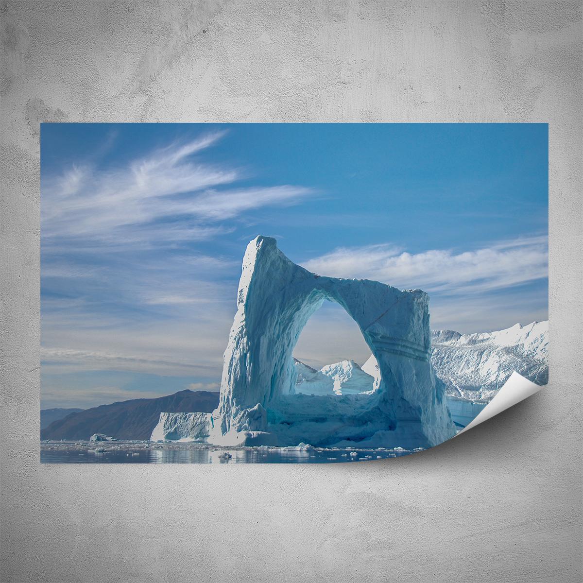 Plakát - Ledovcové okno - 60x40 cm - PopyDesign