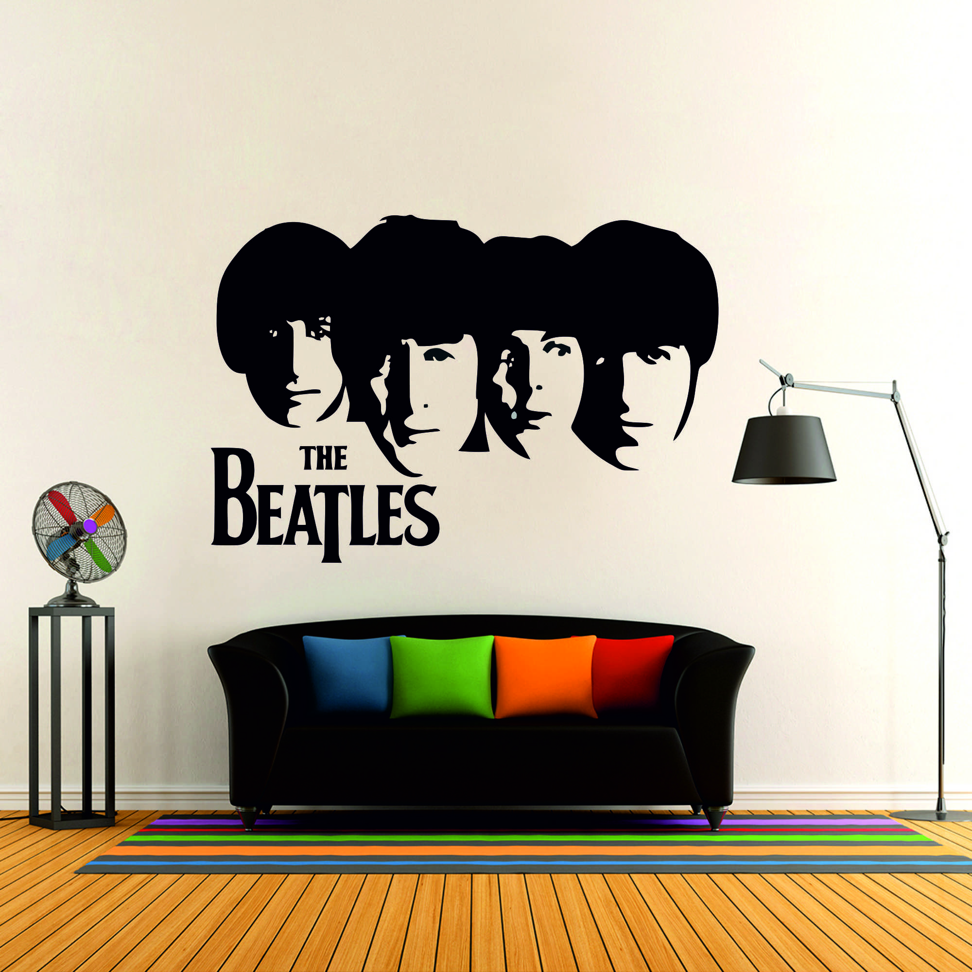 Samolepka na zeď - The Beatles - 95x65 cm - PopyDesign
