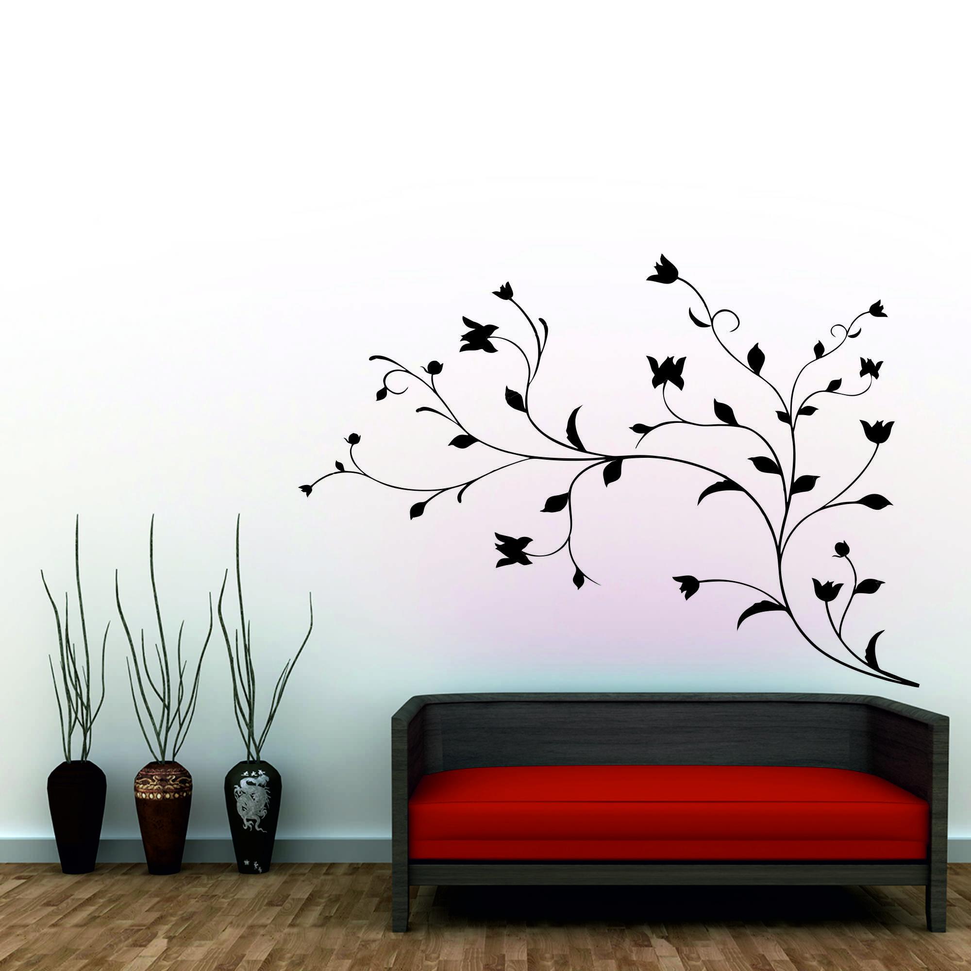 Samolepka na zeď - Větvička brain - 120x67 cm - PopyDesign