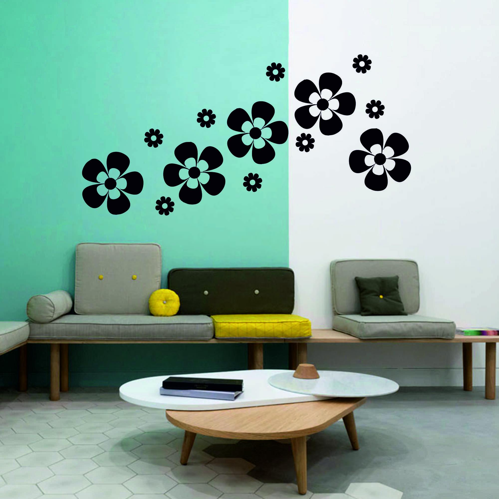 Samolepka na zeď - Květy set 3 - PopyDesign