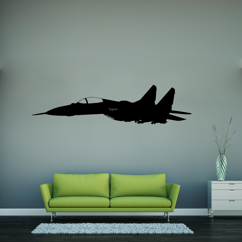 Samolepka na zeď - Stíhačka - 60x15 cm - PopyDesign
