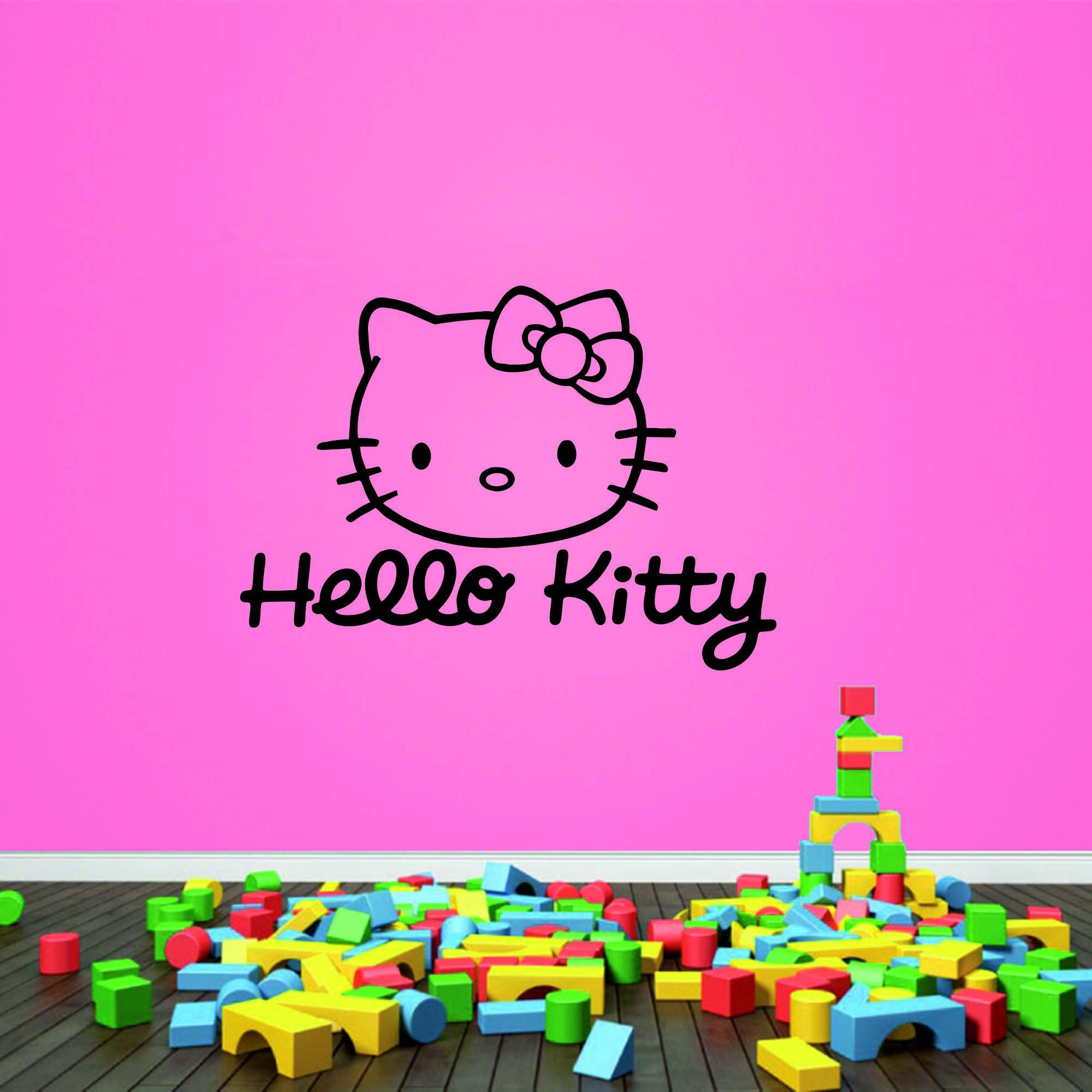 Samolepka na zeď - Hello Kitty 2 - 60x43 cm - PopyDesign