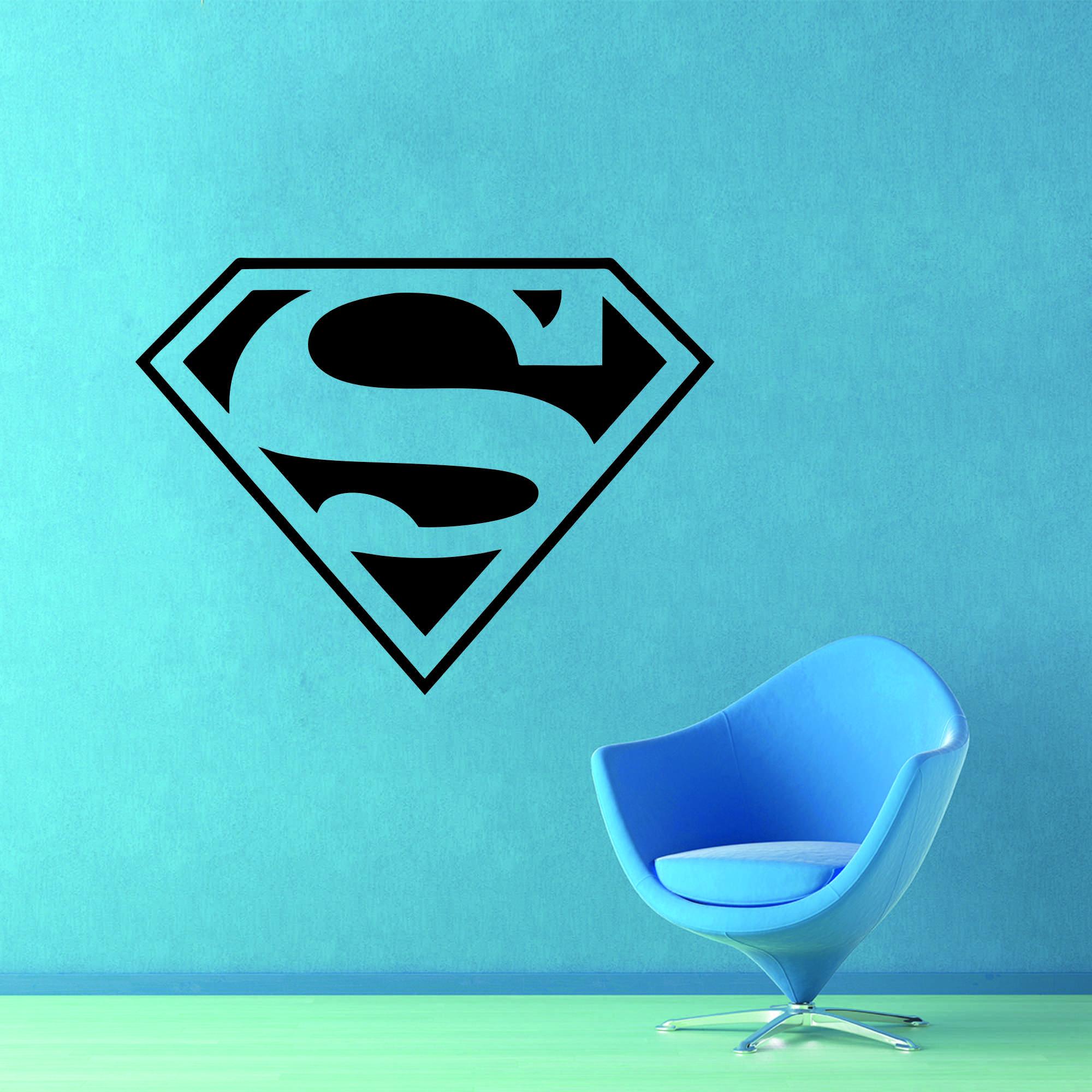 Samolepka na zeď - Superman znak - 95x72 cm - PopyDesign