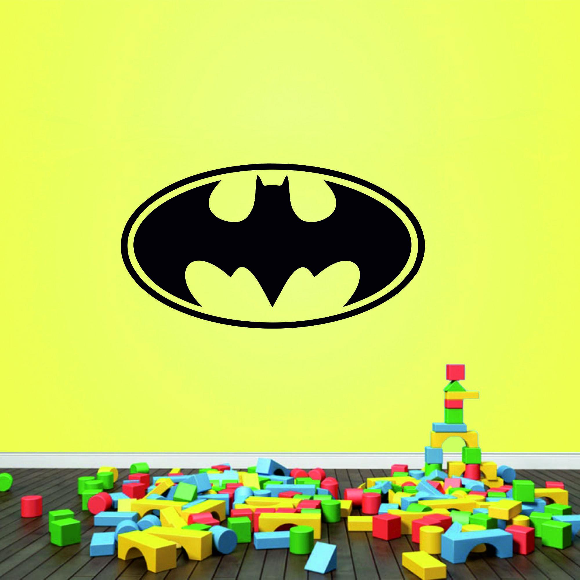 Samolepka na zeď - Batman znak - 60x32 cm - PopyDesign
