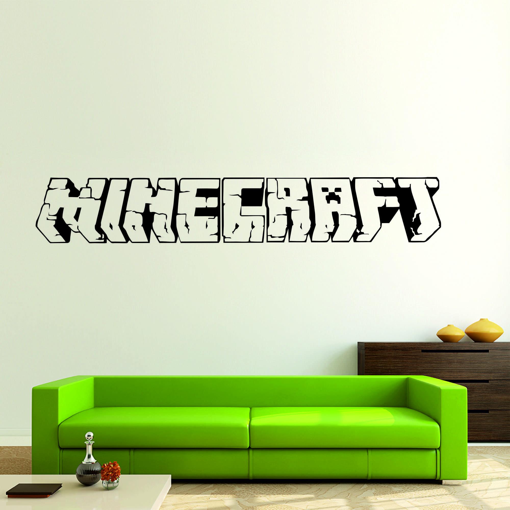 Samolepka na zeď - Minecraft nápis - 95x16 cm - PopyDesign