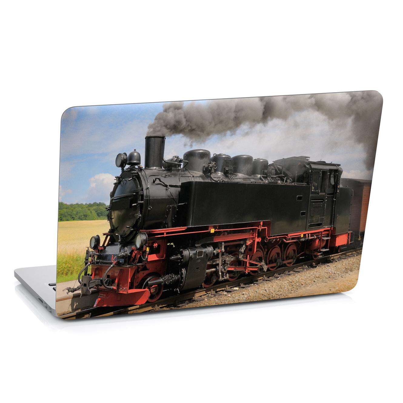 Samolepka na notebook - Parní lokomotiva - 29x20 cm - PopyDesign