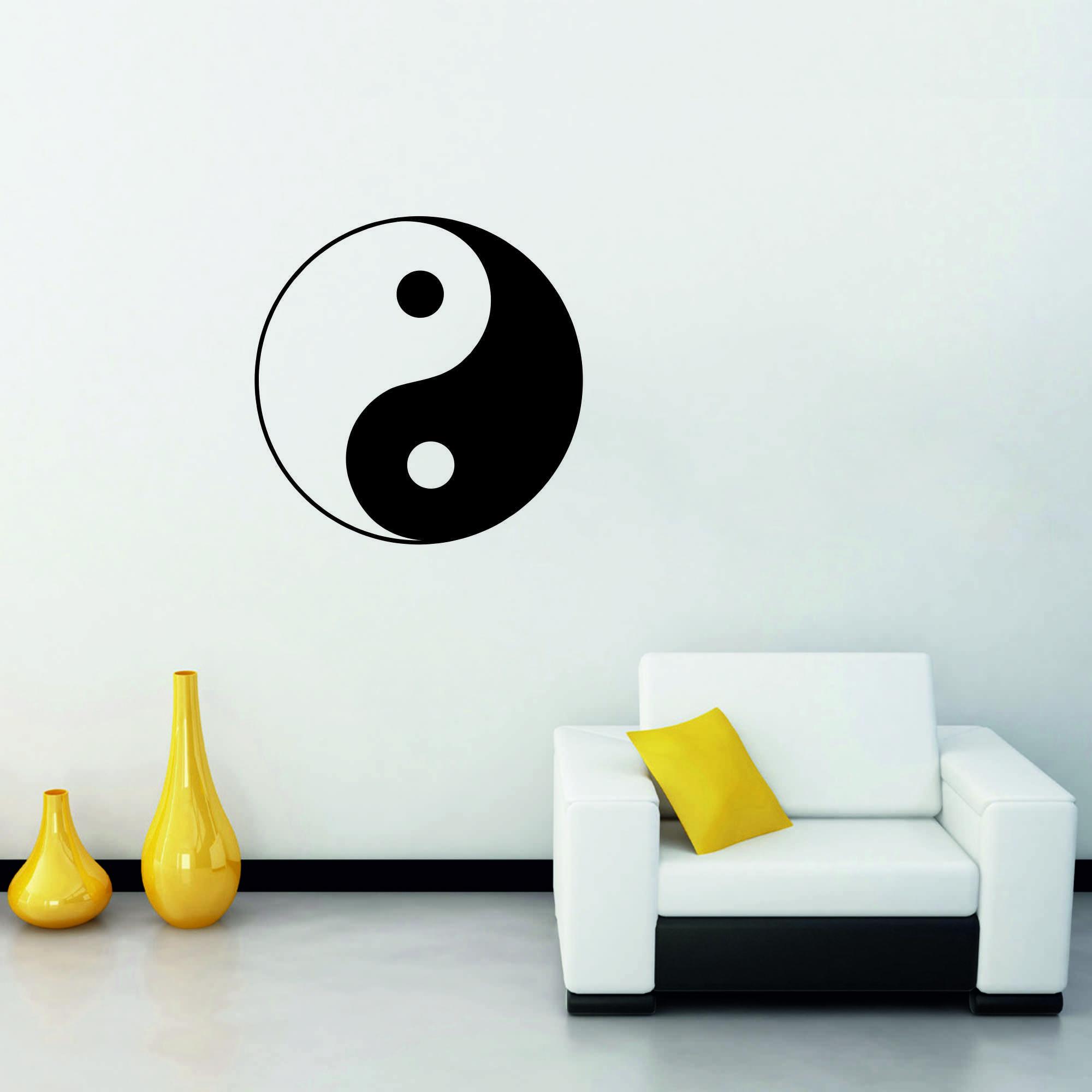 Samolepka na zeď - Jin Jang - 120x120 cm - PopyDesign