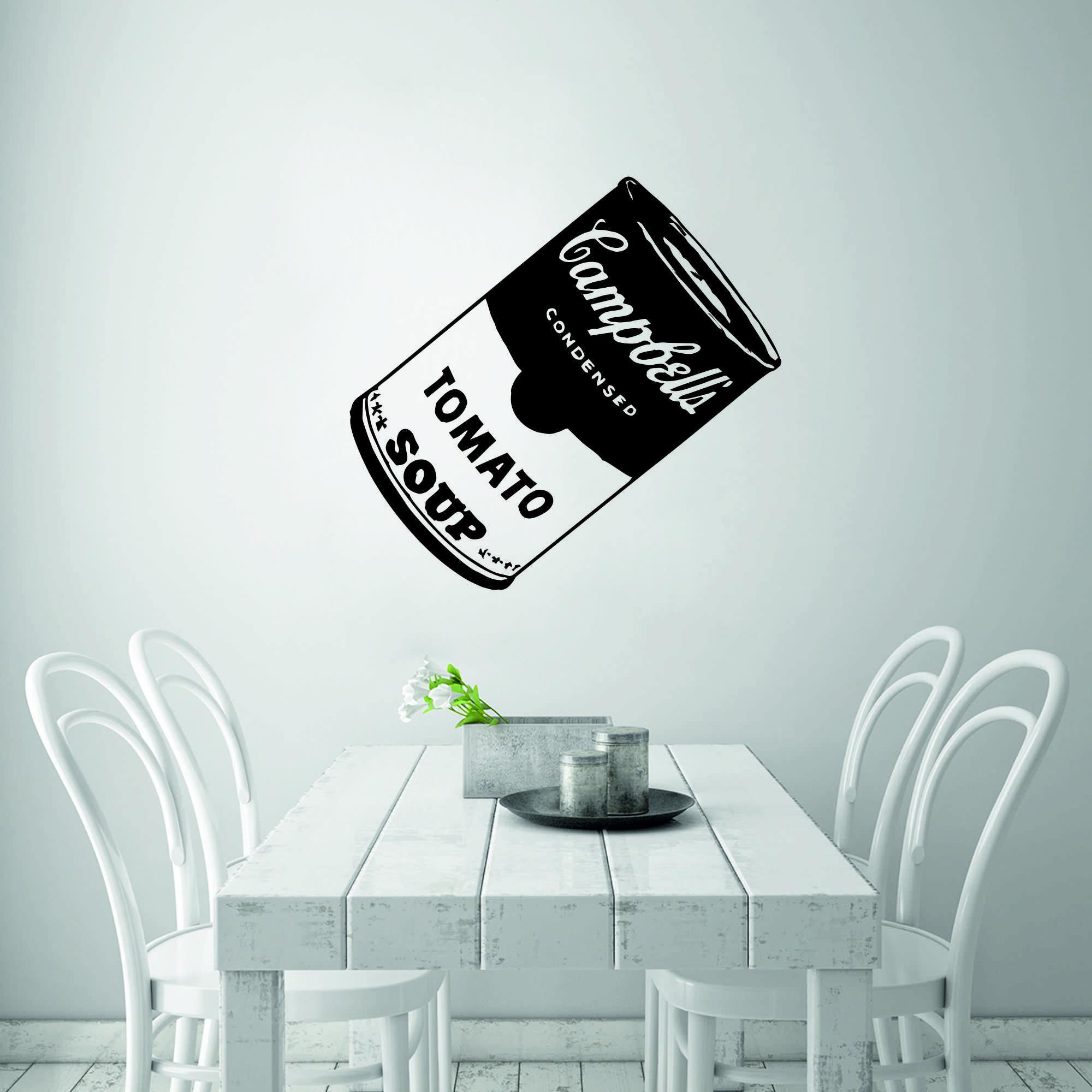 Samolepka na zeď - Plechovka Andy Warhol Tomato - 36x60 cm - PopyDesign