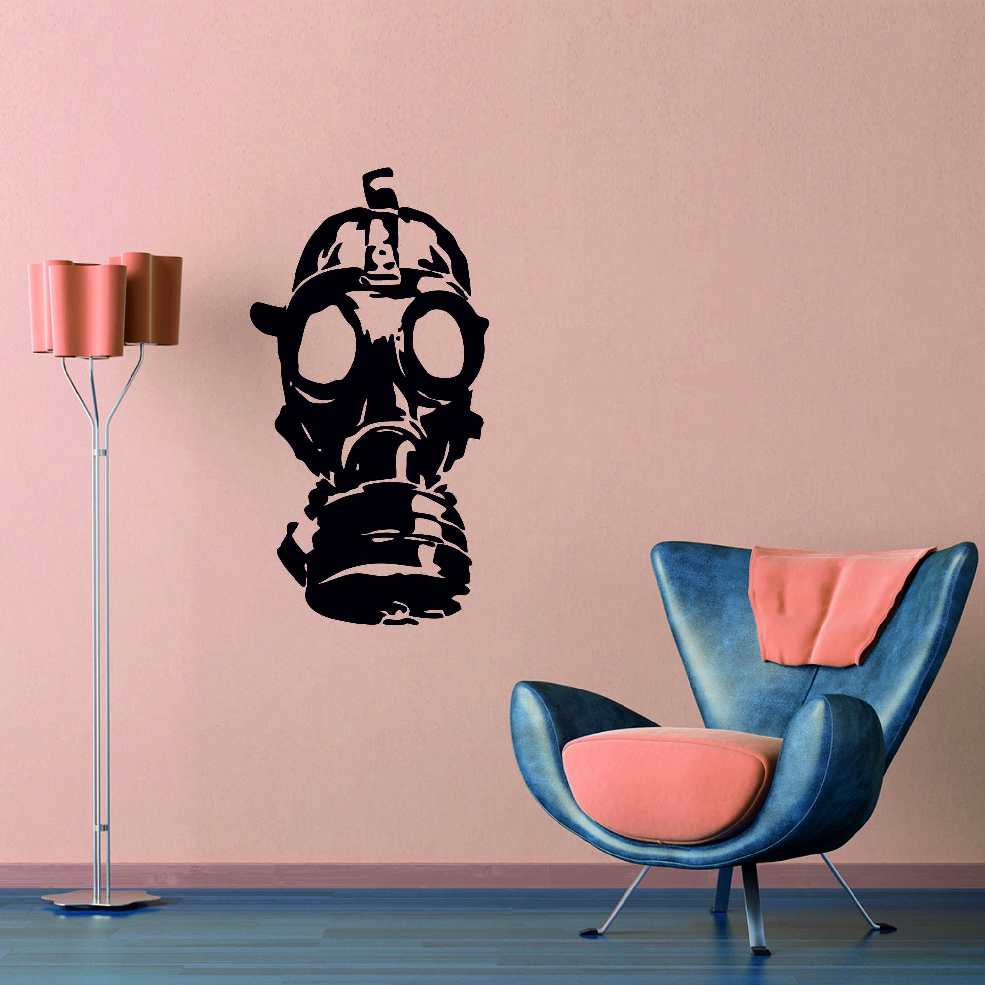 Samolepka na zeď - Plynová maska - 32x60 cm - PopyDesign