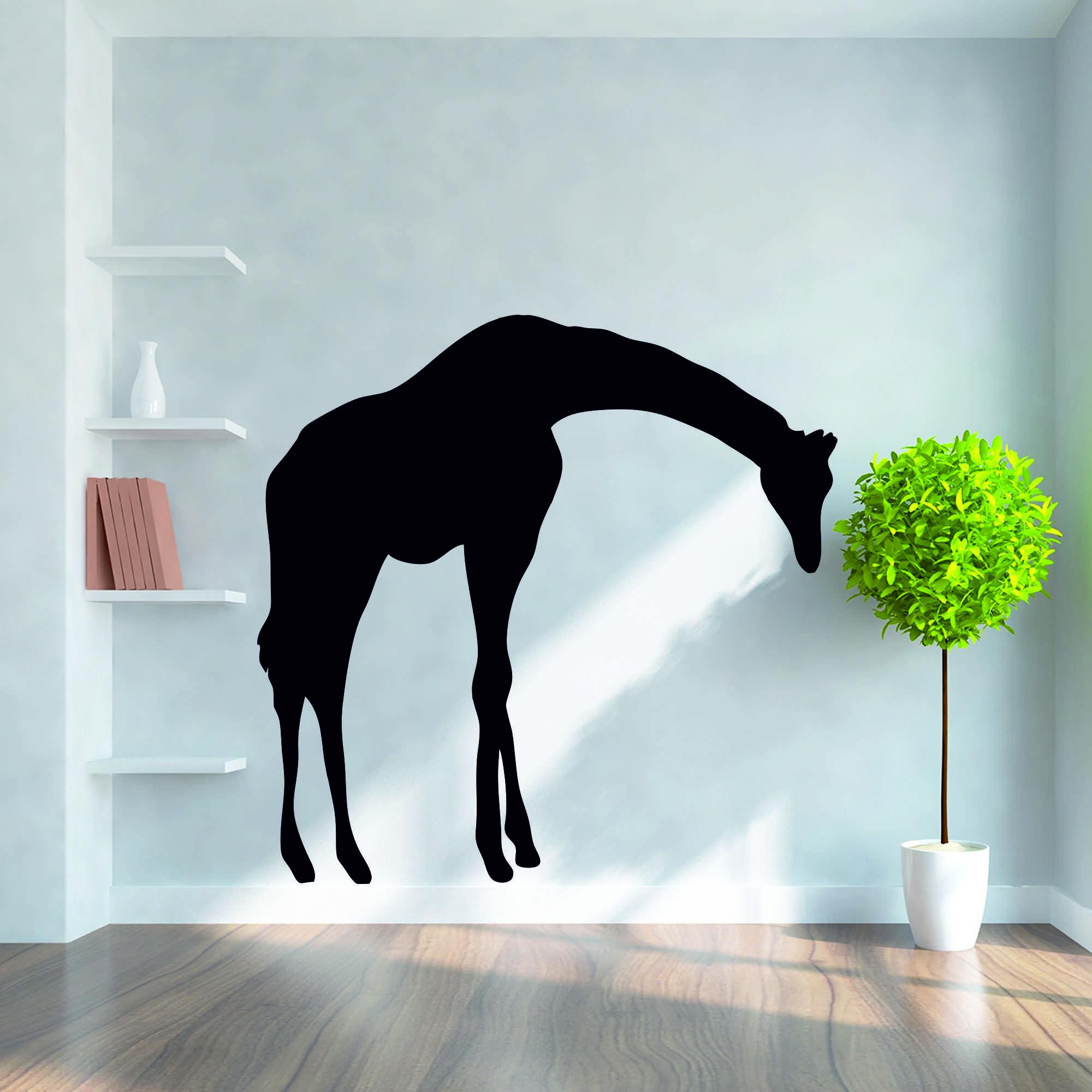 Samolepka na zeď - Žirafa 2 - 60x58 cm - PopyDesign