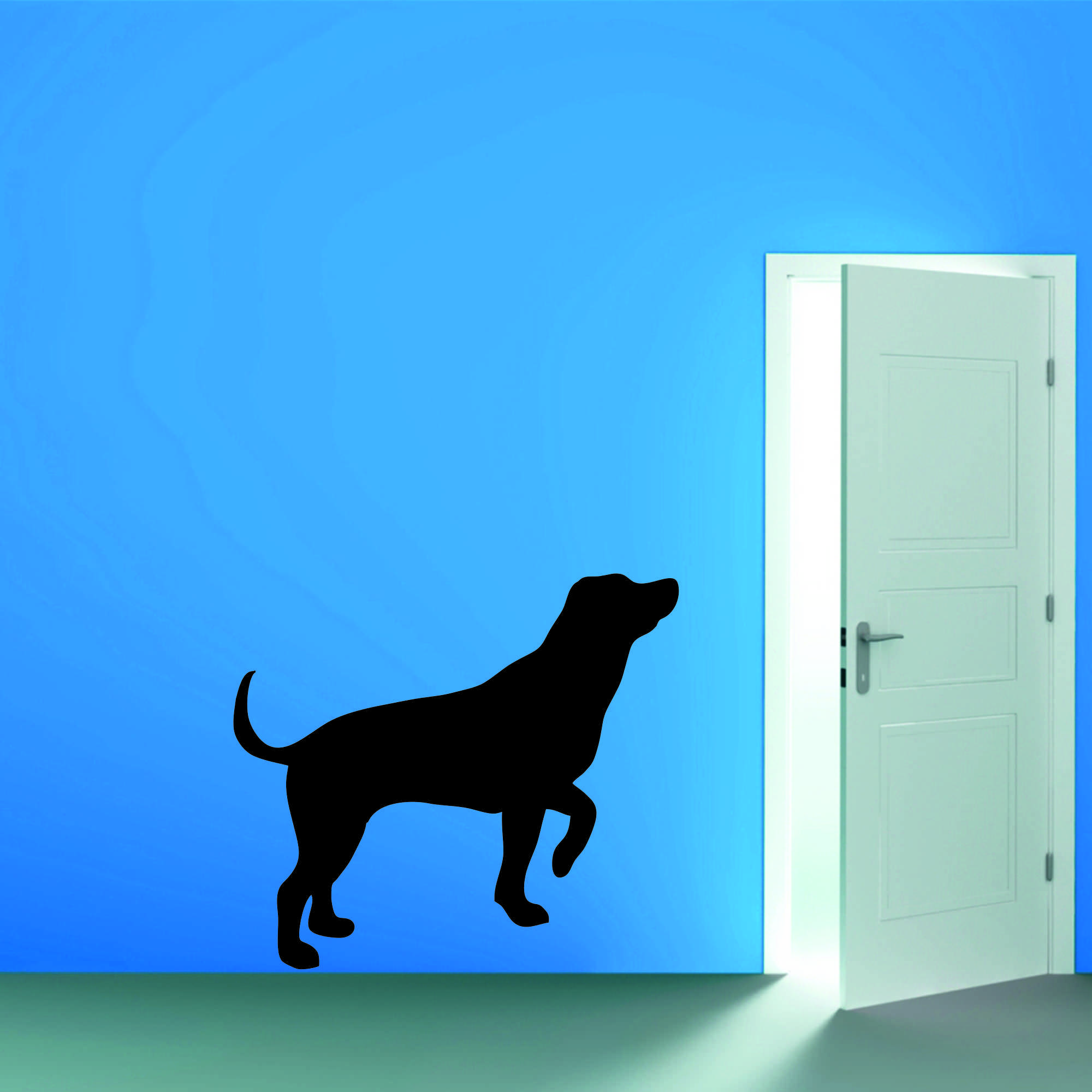 Samolepka na zeď - Silueta psa 2 - 60x53 cm - PopyDesign