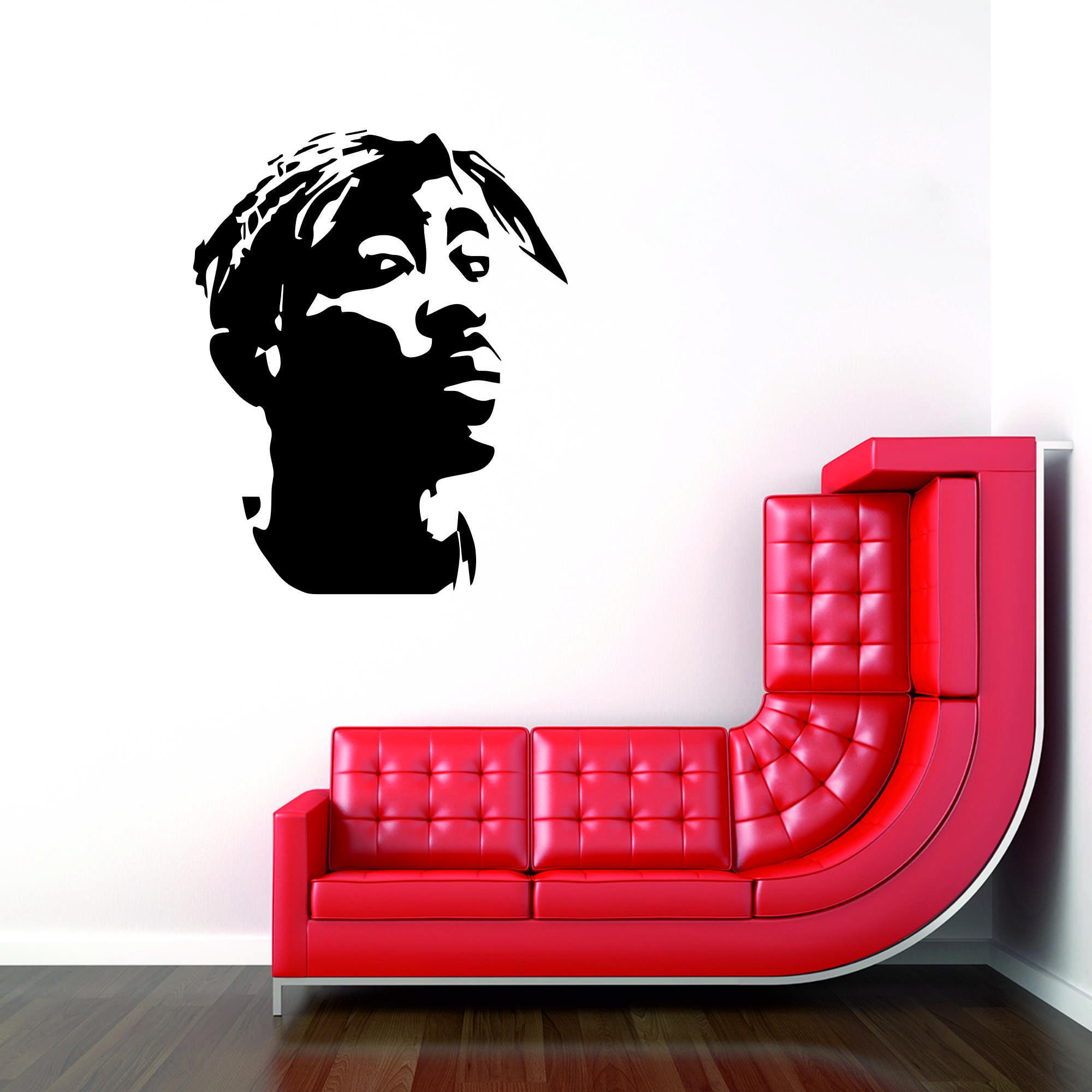 Samolepka na zeď - Tupac - 48x60 cm - PopyDesign