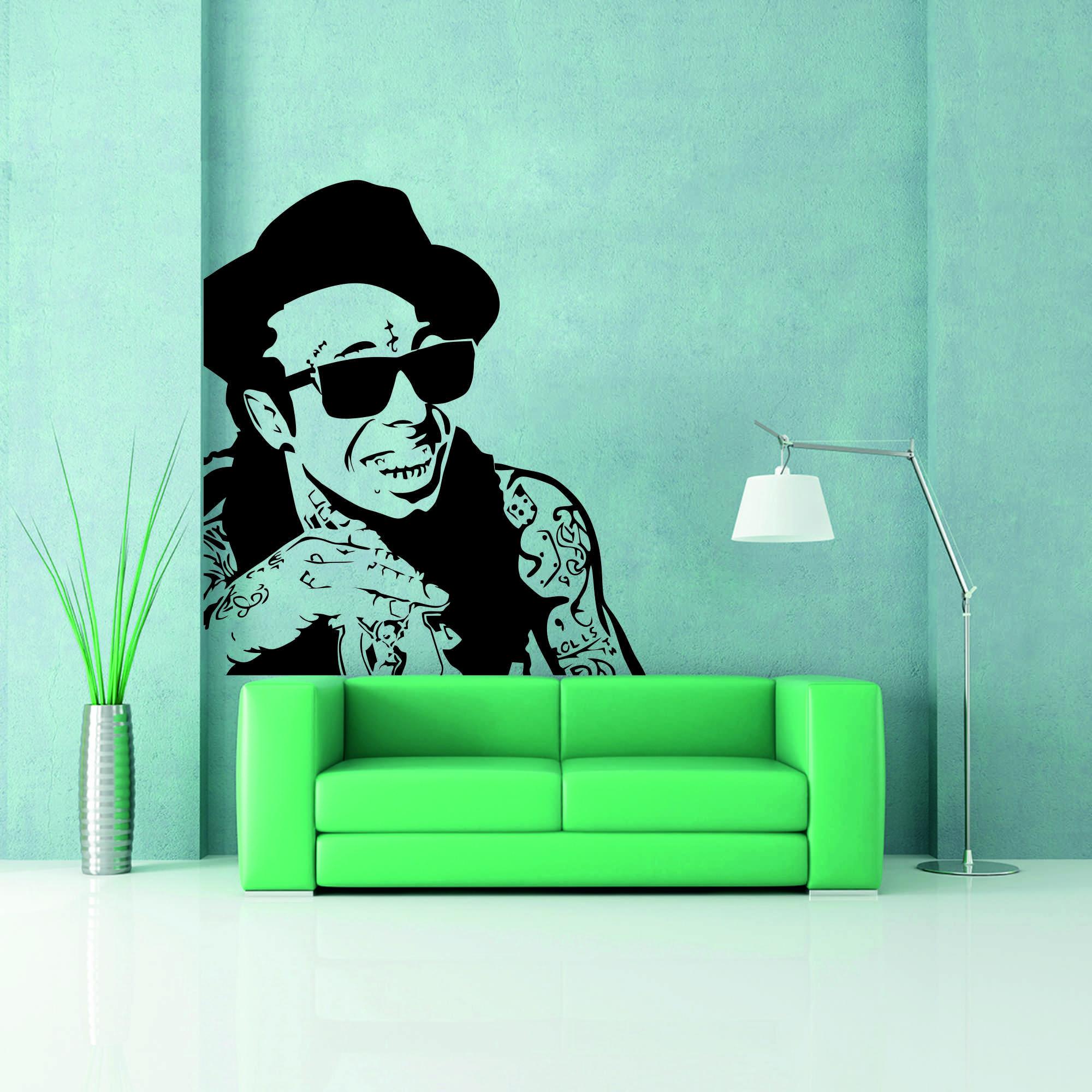 Samolepka na zeď - Lil Wayne - 54x60 cm - PopyDesign